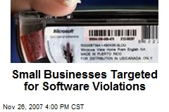 Small Businesses Targeted for Software Violations