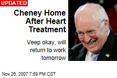 Cheney Home After Heart Treatment