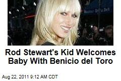 Kimberly Stewart Has Baby Girl; Benicio del Toro Is the Father