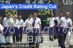 Japan's Credit Rating Cut
