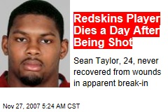 Redskins Player Dies a Day After Being Shot