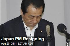 Japanese Prime Minister Naoto Kan Resigning