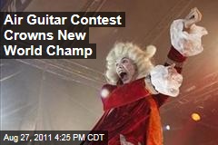 German Woman Wins Air Guitar World Championship in Oulu, Finland