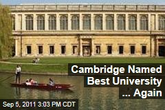 Cambridge University Takes First Place in Worldwide Ranking