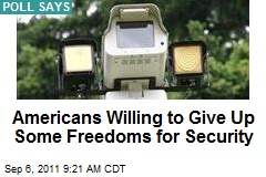 Americans Willing to Give Up Some Freedoms for Security