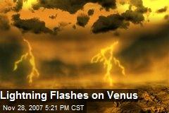 Lightning Flashes on Venus
