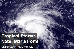 Tropical Storms Nate, Maria Form