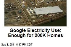 Google Energy Use: 2.26B kilowatt hours in 2010, enough for 200K homes