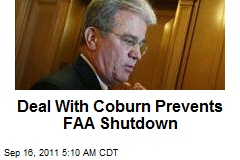 Deal With Coburn Prevents FAA Shutdown