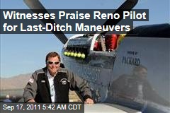 Pilot Jimmy Leeward Pulled Up, May Have Kept Reno Crash From Being Even Worse
