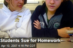 Students Sue for Homework