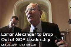 Lamar Alexander to Drop Out of GOP Leadership
