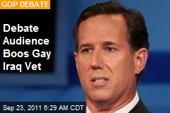 Debate Audience Boos Gay Iraq Vet