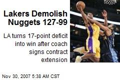 Lakers Demolish Nuggets 127-99