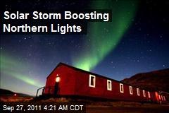 Solar Storm Boosting Northern Lights