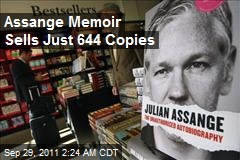Assange Memoir Sells Just 644 Copies