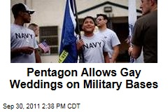 Pentagon Permits Chaplains to Perform Gay Weddings