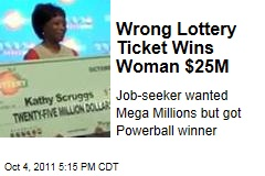 Wrong Lottery Ticket Wings Georgia Woman Kathy Scruggs $25M