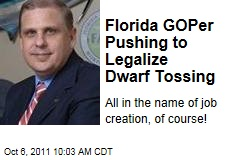 Florida State GOP. Rep. Ritch Workman Wants to Legalize Dwarf Tossing