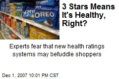 3 Stars Means It's Healthy, Right?