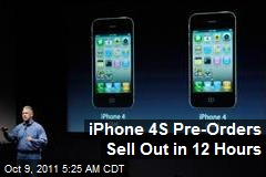 iPhone 4S Pre-Orders Sell Out in 12 Hours