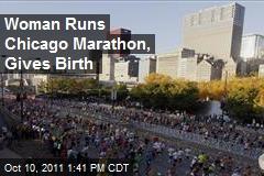 Woman Runs Chicago Marathon, Gives Birth
