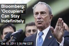 Mayor Bloomberg Lets Occupy Wall Street Protesters Stay in Zuccotti Park