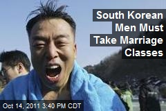 South Korean Men Must Take Marriage Classes
