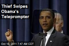 Thief Swipes Obama's Teleprompter
