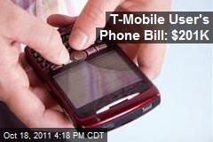 T-Mobile User's Phone Bill: $201K