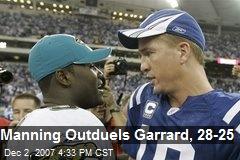 Manning Outduels Garrard, 28-25