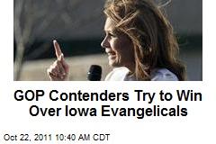 GOP Contenders Try to Win Over Iowa Evangelicals