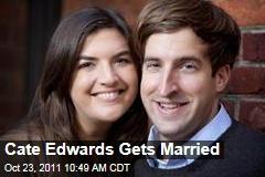 John Edwards' Daughter Cate Marries Trevor Upham