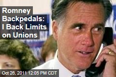 Mitt Romney Backtracks on Ohio Union Bargaining Legislation