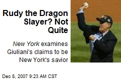 Rudy the Dragon Slayer? Not Quite