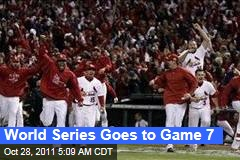 World Series Goes to Game 7 After Cardinals Beat Rangers in Extra Innings