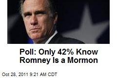 Poll: Only 42% Know Romney Is a Mormon