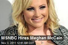MSNBC Hires Megan McCain