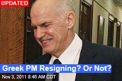 Papandreou to Resign: Sources