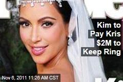Kim Kardashian Divorce: She'll Pay Kris Humphries $2M to Keep Engagement Ring