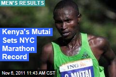 New York City Marathon: Kenya's Geoffrey Mutai Sets Men's Record