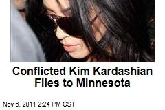 Kim Kardashian Flies to Minnesota to Meet With Kris Humphries