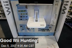 Good Wii Hunting!