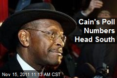 Cain's Poll Numbers Head South