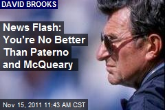 News Flash: You're No Better Than Paterno, McQueary