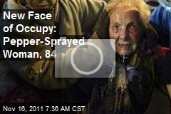 New Face of Occupy: Pepper-Sprayed Woman, 84