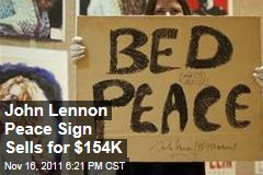 John Lennon Peace Sign Sells for $154,000 at Christie's in London