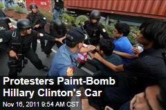 Hillary Clinton Paint Attack in Philippines
