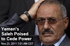 Yemen President Ali Abdullah Saleh Poised to Step Down Amid Protests