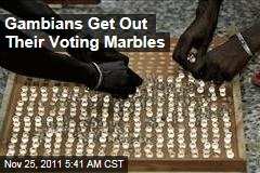 Gambians Vote With Marbles, With Incumbent President Yahya Jammeh Expected to Win